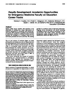 Academic Opportunities for Emergency ... - Wiley Online Library