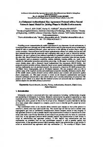 Academic paper: An Enhanced Authenticated Key Agreement Protocol ...