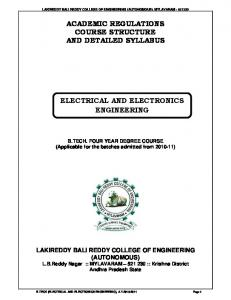 academic regulations course structure and detailed syllabus ...