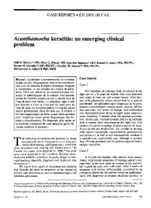 Acanthamoeba keratitis: an emerging clinical problem - NCBI