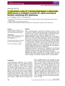 (ACC) based on ninhydrin reaction for rapid ... - Wiley Online Library