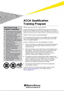 ACCA Qualification Training Program - Ernst & Young