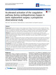 Accelerated activation of the coagulation pathway during ...