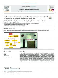 Accelerated crystallization of magnetic 4A-zeolite