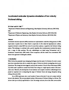 Accelerated molecular dynamics simulation of low-velocity ... - arXiv