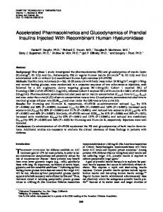 Accelerated Pharmacokinetics and ... - Mary Ann Liebert, Inc.
