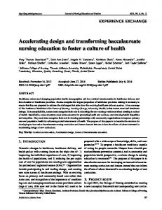 Accelerating design and transforming baccalaureate ... - Sciedu Press