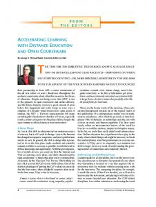 accelerating learning with distance education and open courseware