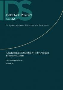 Accelerating Sustainability: Why Political Economy Matters - CiteSeerX