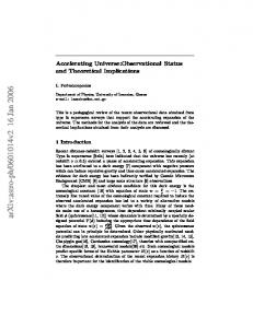 Accelerating Universe: Observational Status and Theoretical ...