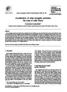 Acceleration of solar energetic particles: the case of solar ares