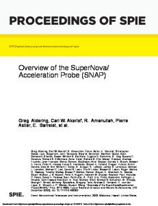 Acceleration Probe (SNAP)