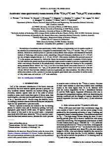 Accelerator mass spectrometry measurements of ... - APS Link Manager