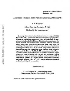 Accelerator-Produced Dark Matter Search using MiniBooNE