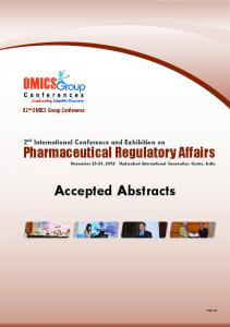Accepted Abstracts