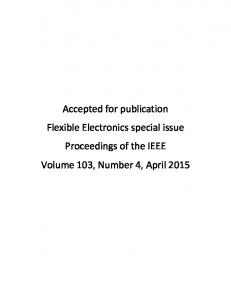 Accepted for publication Flexible Electronics special ...