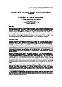 Accepted for publication in TECHNOVATION (forthcoming) 1 ...