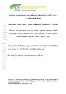 Accepted paper - Italian Journal of Agronomy