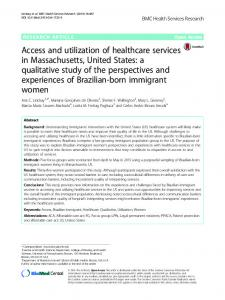 Access and utilization of healthcare services in