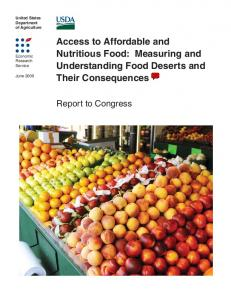 Access to Affordable and Nutritious Food: Measuring and ... - USDA ERS