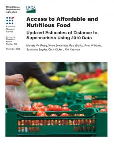 Access to Affordable and Nutritious Food: Updated ... - USDA ERS