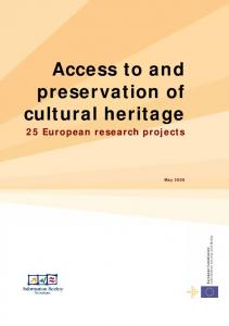 Access to and preservation of cultural heritage - Cordis - Europa EU