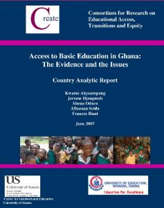 Access to Elementary Education in Ghana: Country Analytic ... - Eric