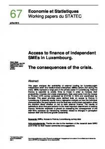 Access to finance of independent - Statistiques Luxembourg