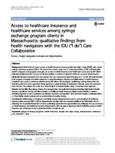 Access to healthcare insurance and healthcare services among ...