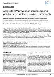 Access to HIV prevention services among gender based violence ...