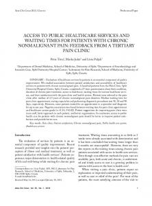 ACCess to PubliC heAlthCAre serviCes And wAiting