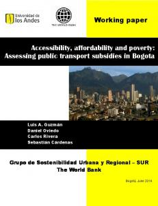 Accessibility, affordability and poverty: Assessing ...