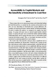 Accessibility to Capital Markets and the Sensitivity of Investment to ...