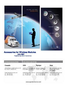 Accessories for Wireless Modules - ogo electronics ltd.
