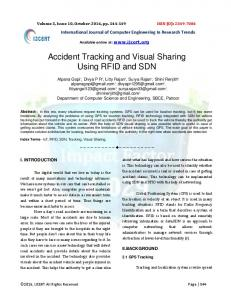 Accident Tracking and Visual Sharing Using RFID and SDN - IJCERT