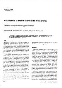 Accidental Carbon Monoxide Poisoning - EBSCOhost