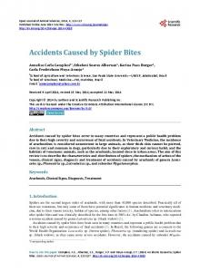 Accidents Caused by Spider Bites - Scientific Research Publishing