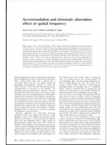 Accommodation and chromatic aberration - Wiley Online Library