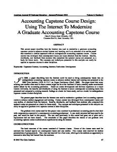 Accounting Capstone Course Design: Using the Internet to Modernize ...