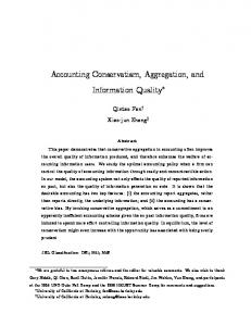 Accounting Conservatism, Aggregation, and Information Quality