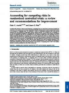 Accounting for competing risks in randomized ... - Wiley Online Library