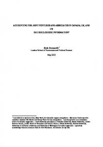 ACCOUNTING FOR JOINT VENTURES AND ASSOCIATES IN ...