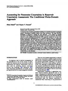 Accounting for Parameter Uncertainty in Reservoir Uncertainty ...