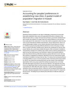 Accounting for peoples#_#x2019; preferences in establishing new