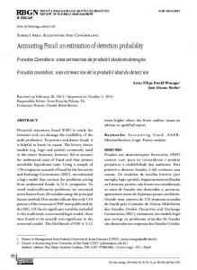 Accounting Fraud: an estimation of detection probability - RBGN - Fecap