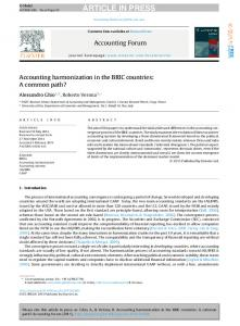 Accounting harmonization in the BRIC countries: A ...