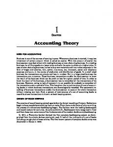 Accounting Theory - New Age International