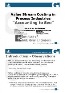 """Accounting to See"" - Institute of Industrial Engineers"