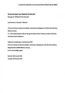 Accpeted for publication in the Journal of Korean Medical ... - arXiv