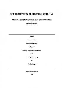 Accreditation of business schools